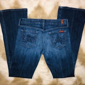 """7 For All Mankind """"A"""" Pocket Bootcut Size 26"""